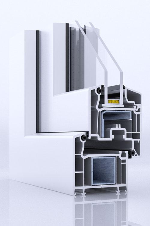 okna veka perfectline prosty. Black Bedroom Furniture Sets. Home Design Ideas